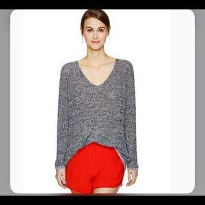 Babaton jarrod sz xs linen silk sweater